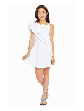 Habitual White Ruffle Dress