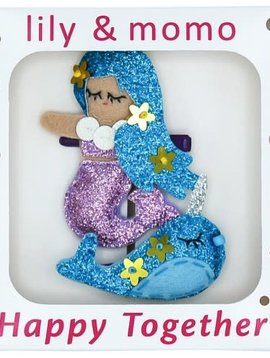 Lily and Momo Pearl Mermaid  and Narwhal Clip