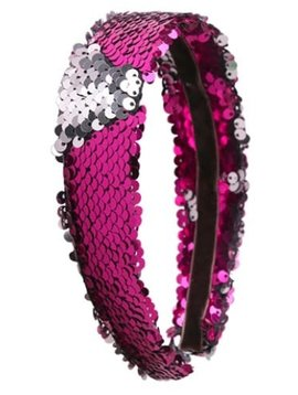 Lily and Momo Sequin Headband (Hot Pink)