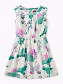 Tea Collection Lotus Woven Pleated Dress