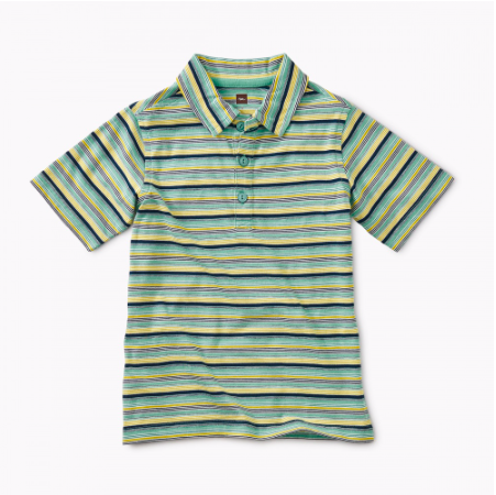 Tea Collection Albacore Patterned Polo
