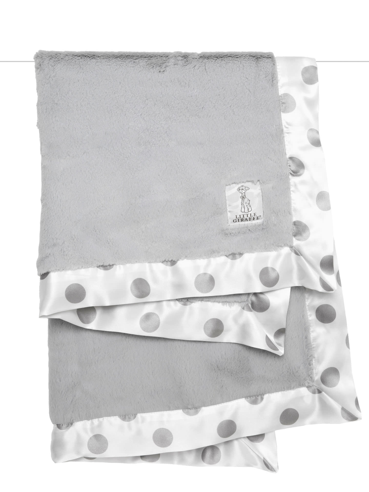 Little Giraffe Luxe Cream Dot Blanket