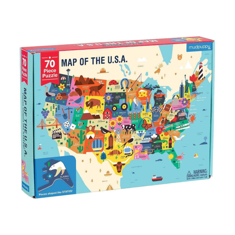mudpuppy 70 pc Shaped Puzzle