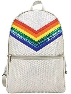 Iscream Silver Chevron Backpack