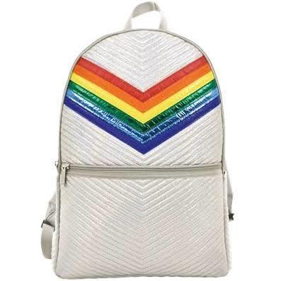 Iscream Silver Chevron Backpack
