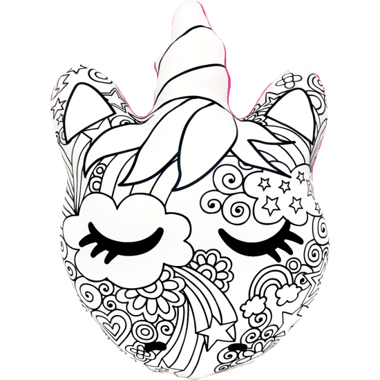Iscream Unicorn & Stars Color Me Pillow