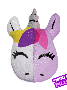 Iscream Mini Unicorn Sequin Pillow