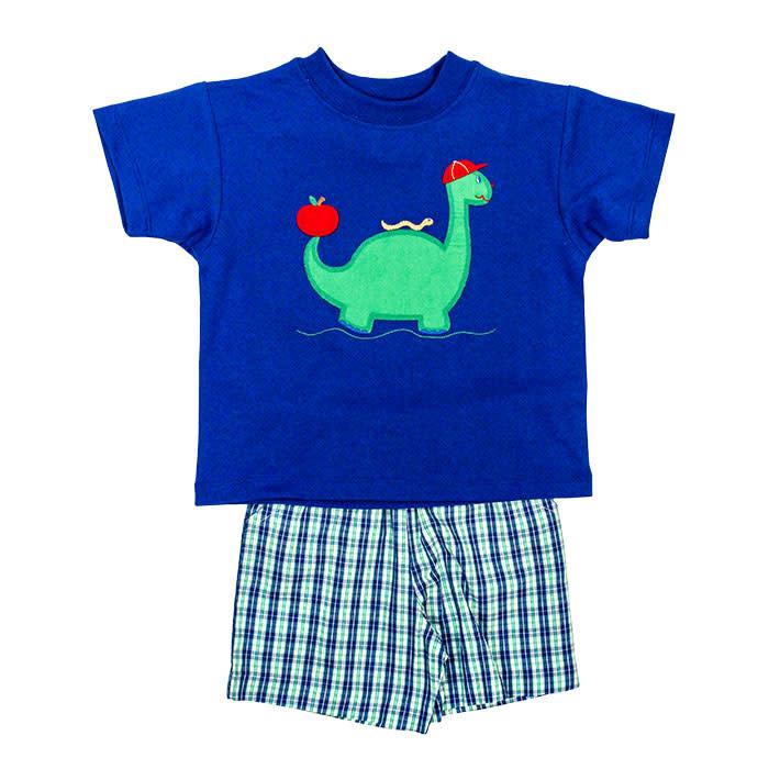 Bailey Boys Dinosaur Short Set