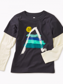 Tea Collection Painted Everest Graphic Tee
