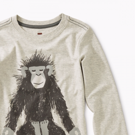 Tea Collection Monkey Ohm Graphic Tee