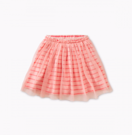 Tea Collection Patterned Tulle Twirl Skirt