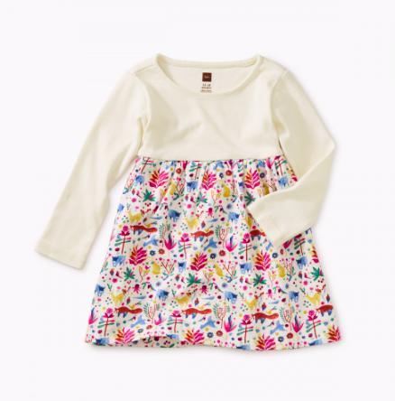 Tea Collection Mountain Two-Tone Baby Dress