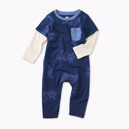 Tea Collection Road Trip Pocket Romper