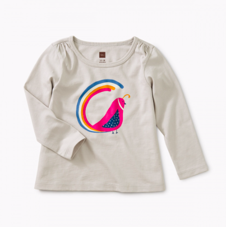 Tea Collection Quail Tail Graphic Tee