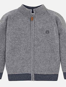 Mayoral Zip Silver Sweater
