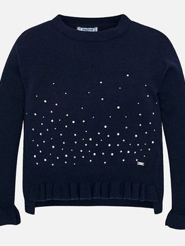 Mayoral Navy Studded Sweater
