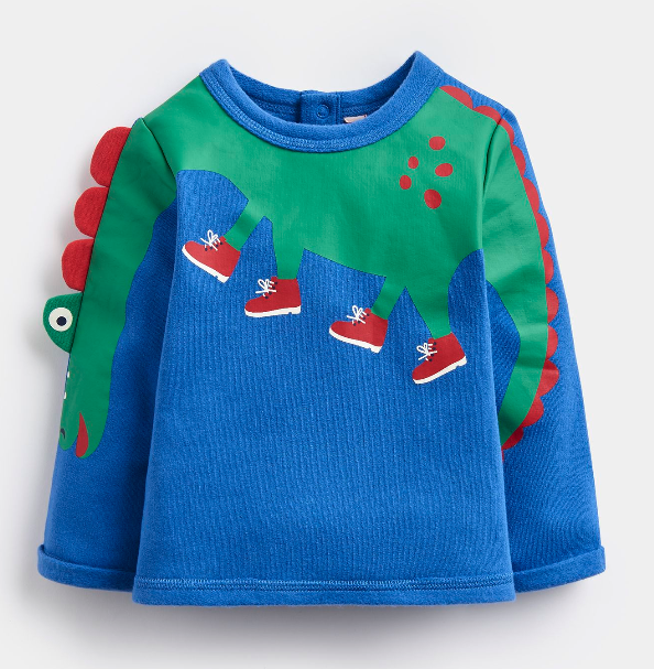 Joules Boo Dino Arm Top