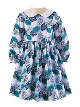 Rachel Riley Leaf Peter Pan Collar Dress