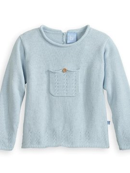 Bella Bliss Blue Front Pocket Pullover