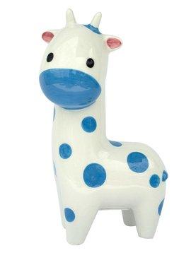 Applesauce Blue Giraffe Ceramic Bank