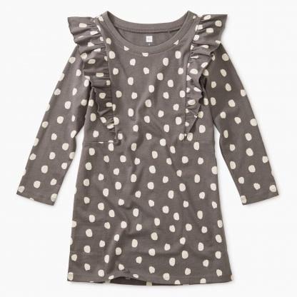 Tea Collection Leopard Spots Ruffle Dress
