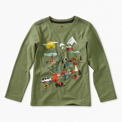 Tea Collection Happy Map Graphic Tee