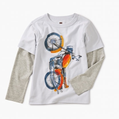 Tea Collection Vertical Moto Layered Tee