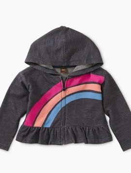 Tea Collection Indigo Rainbow Zip Hoodie