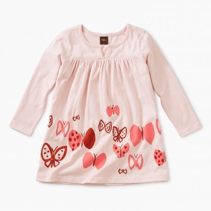Tea Collection Butterflies Graphic Baby Dress