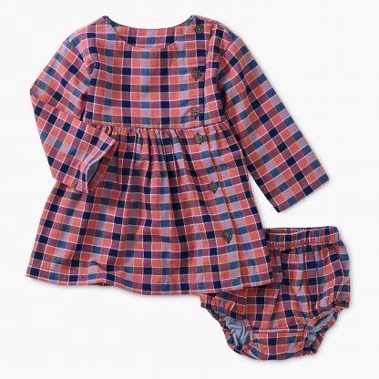 Tea Collection Bhutan Plaid Woven Baby Dress