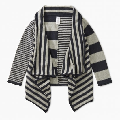 Tea Collection Tranquility Striped Drape Cardigan