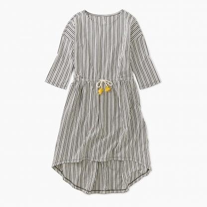 Tea Collection Chalk Tie Waist Hi-Lo Dress