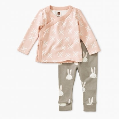 Tea Collection Soft Geo Wrap Top Baby Outfit