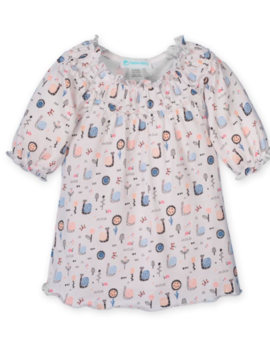 Feather Baby Ruched Tunic Set