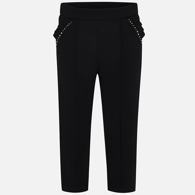 Mayoral Black Long Trousers