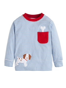 Little English Puppy Pocket Applique Tee