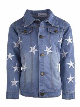 Lola & the Boys Star Patch Denim Jacket