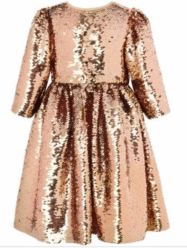 Lola & the Boys Rose Gold Party Dress