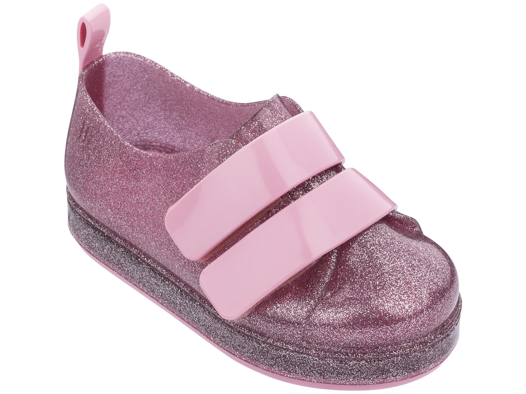 Mini Melissa Pink Glitter Go Sneaker