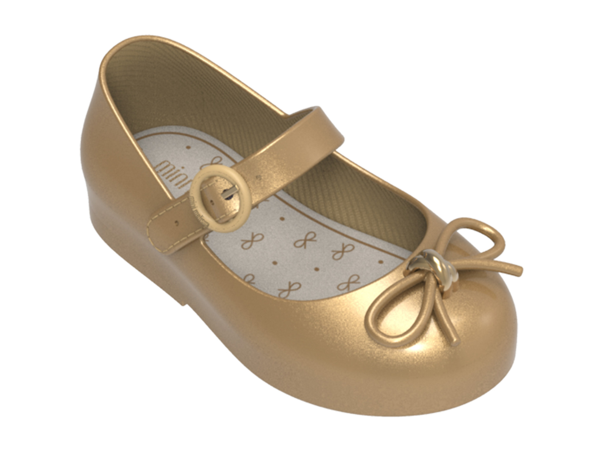 Mini Melissa Gold Sweet Shoe