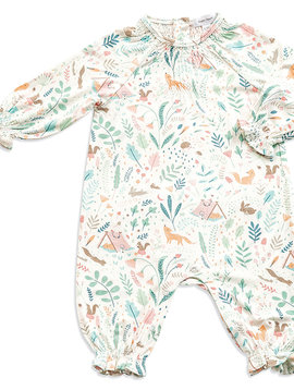 Angel Dear Woodland Floral Smocked Romper