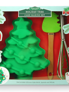 Handstand Kitchen Christmas Tree Cake Making Set