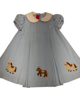 Claire & Charlie Horses Corduroy Dress