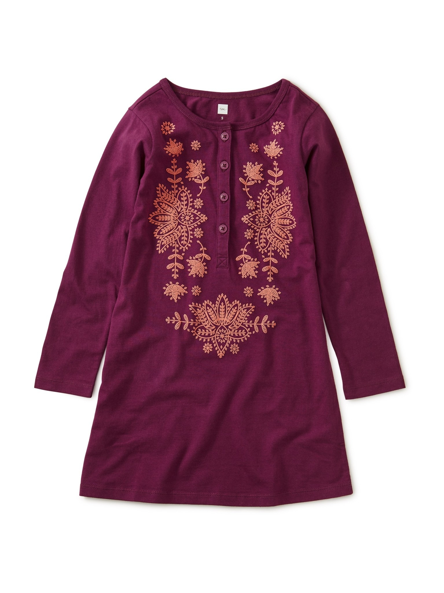 Tea Collection Cosmic Berry Henley Dress