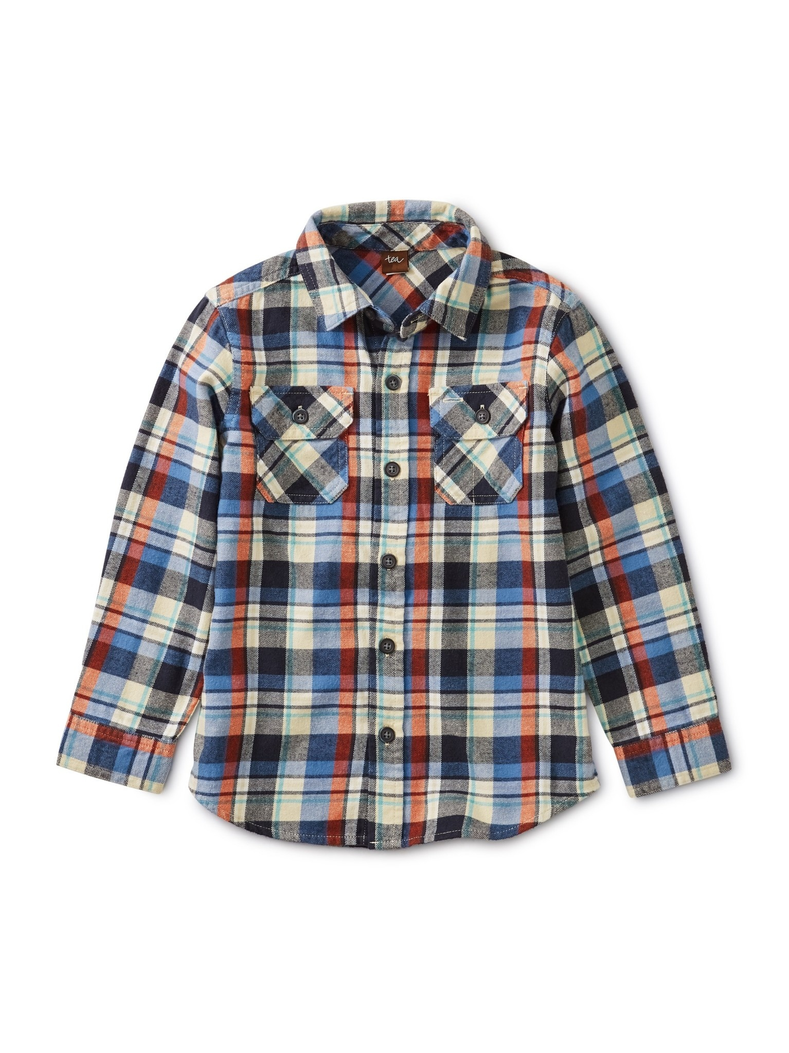 Tea Collection Trekking Plaid Flannel Shirt