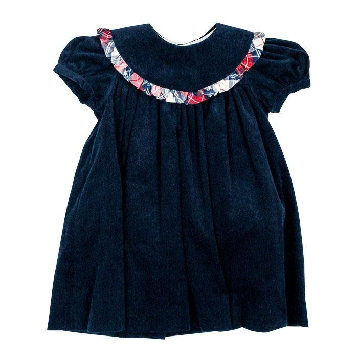 Bailey Boys Navy Float Dress w Plaid