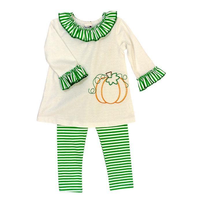 Bailey Boys Pumpkin Stitch Tunic Set