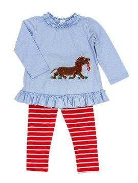 Bailey Boys Shoe Dog Tunic Pant Set