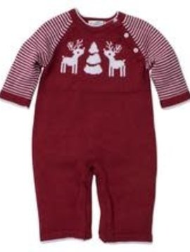 Kissy Kissy Red Reindeer Knit Playsuit