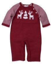 Kissy Kissy Red Reindeer Knit Playsuit